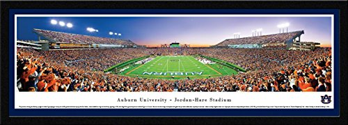 Auburn Tigers Football - End Zone - Blakeway Panoramas College Sports Posters with Select Frame ()