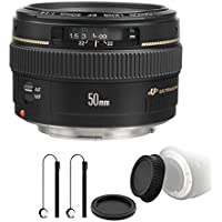 Canon EF 50mm f/1.4 USM Standard Lens for Canon SLR Cameras with Camera Bundle