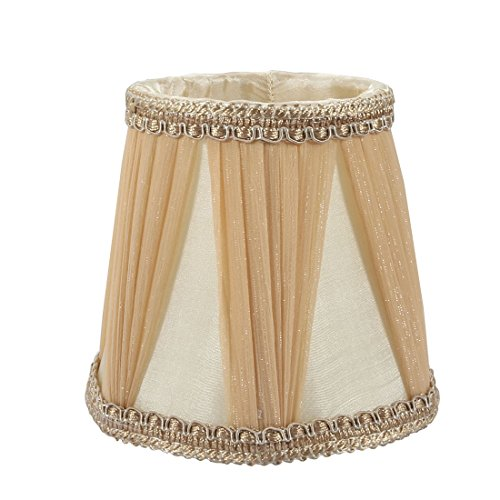 uxcell 9cm-12.5cm Diameter 12cm Height Cloth Lamp Cover Shade Lampshade Light Brown