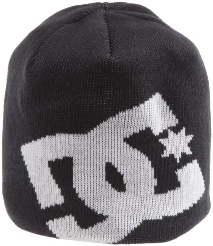 - DC Men's Big Star Beanie, Black, One Size