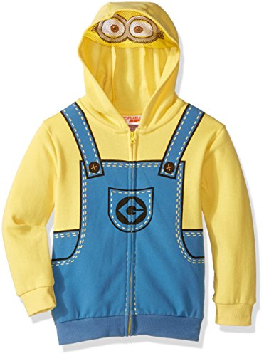 [Universal Little Boys' Toddler Minions Costume Hoodie, Yellow, 3T] (Costume Minions)