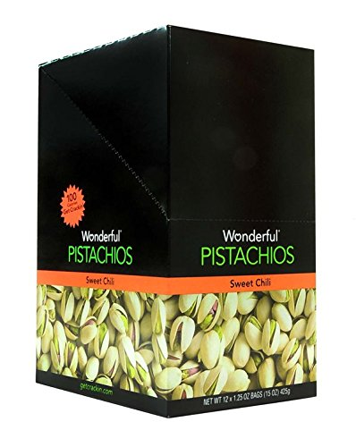 Wonderful Sweet Chilli Pistachio - Tube, 12 Count (NUT & DRY FRUIT - PEG BAGS)