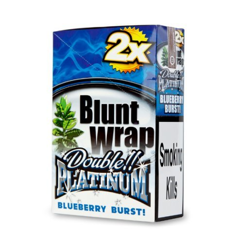 Blueberry Blunts (DOUBLE!! PLATINUM CIGAR WRAPS 2 PER PACK BLUEBERRY FLAVOR PACK OF 25)