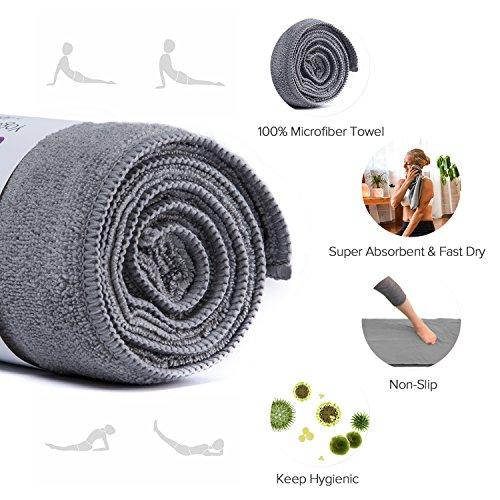 LEVOIT Yoga Towel, Hot Yoga Non Slip Microfiber Towel
