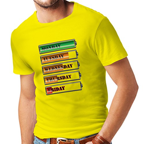 Mexican Sand Shape (T Shirts For Men Weekly Power Workout Schedule - Funny Gym Motivation Quotes (Large Yellow Multi Color))