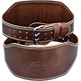 """RDX Cow Hide Leather 6"""" Weight Lifting Gym Belt Back Training Support Fitness Exercise Bodybuilding"""