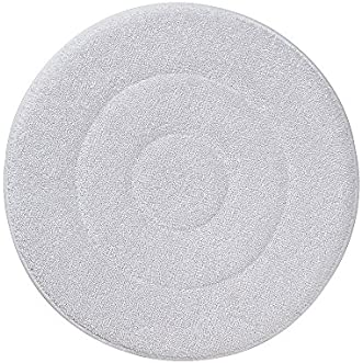 Rubbermaid Commercial Products FGQ21700WH00 Rotary Floor Machine Pads, Microfiber Carpet Bonnet, 17 , White