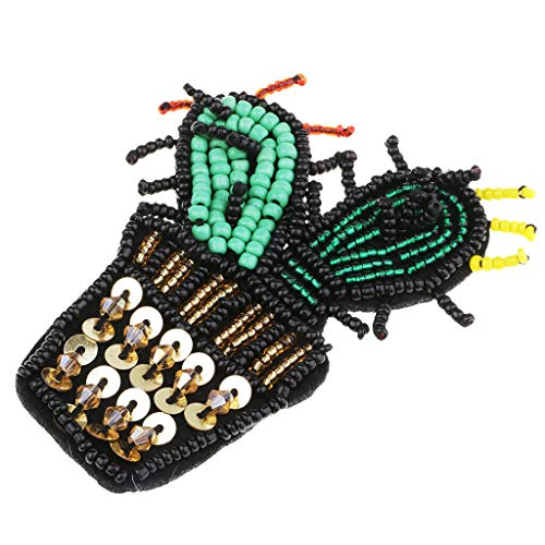 Small Cactus Beaded Sew On Patch Badge Bag T-Shirt Fabric Applique Crafts
