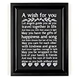 """Ocean Drop Wedding Prayer I 8""""X10"""" Black Framed and Ready to Hang Engagement Gift for Couples I for Newlyweds I for Him and Her I Wedding Verse Couples Gift"""