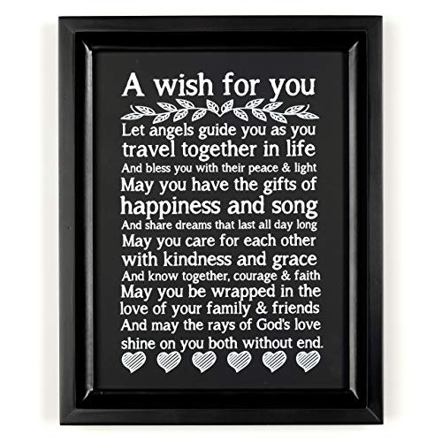Ocean Drop Wedding Prayer I 8X10 Black Framed and Ready to Hang Engagement Gift for Couples I for Newlyweds I for Him and Her I Wedding Verse Couples Gift