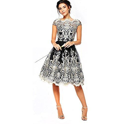 Lace Boatneck Dress - 9