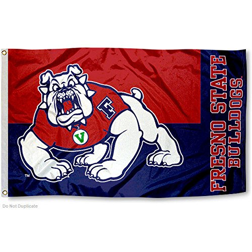 Fresno State Bulldogs FSU University Large College Flag
