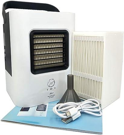 KTLF-LEI Aire Acondicionado Portátil-Climatizador Evaporativo, 3-en-1 Mini Ventilador Humidificador Purificador de Aire USB Aire Acondicionado Oficina del Dormitorio,Black: Amazon.es: Hogar