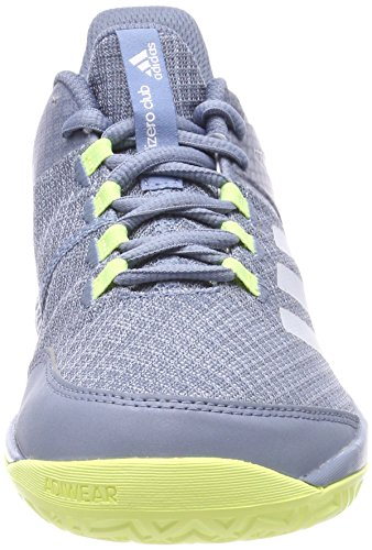 adidas Unisex-Erwachsene Adizero Club Tennisschuhe Grau (Raw Grey/Footwear White/Semi Frozen Yellow)
