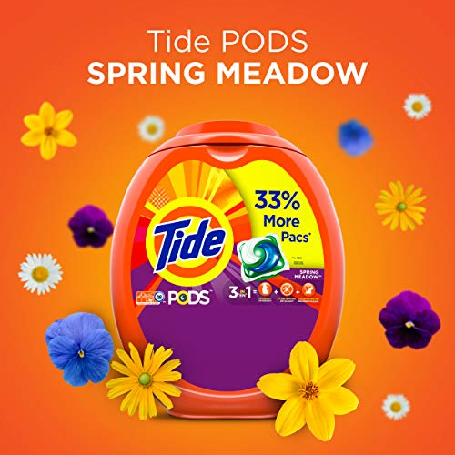 Tide PODS Spring Meadow Scent HE Turbo Laundry Detergent Pacs, 72 count by Tide (Image #8)