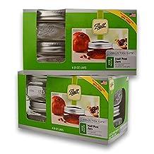 (2 Packs) Ball Mason Wide Mouth Half Pint Jars - 8oz - 4 Jars Per Box - Total 8 Jars by Be The Ball 4U