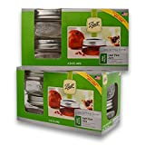 ball half pint jars - (2 Packs) Ball Mason Wide Mouth Half Pint Jars - 8oz - 4 Jars Per Box - Total 8 Jars