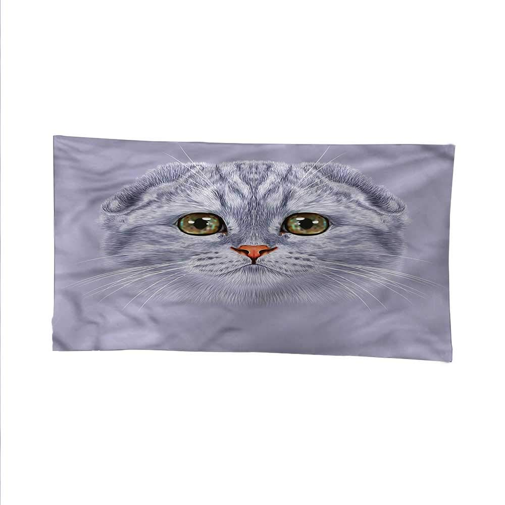 color03 93W x 70L Inch color03 93W x 70L Inch Catsfunny tapestryquote tapestryCute Cat with Green Eyes 93W x 70L Inch