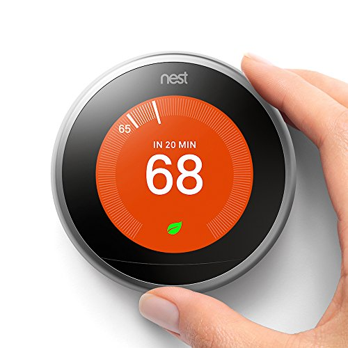 Nest (T3007ES) Learning Thermostat, Easy Temperature Control...
