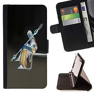 - Abstract Alien - - Prima caja de la PU billetera de cuero con ranuras para tarjetas, efectivo desmontable correa para l Funny HouseFOR Samsung Galaxy Note 4 IV