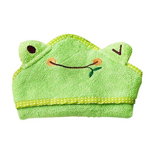 Serviette de Bain Pyjama Couverture Peignoir pour Animal Chien Chiot - Grenouille Vert , S