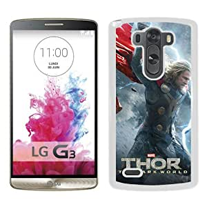Hot Sale LG G3 Case, Thor The Dark World White LG G3 Cover Unique And High Quality Designed Phone Case