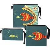 QOGiR Reusable Snack Bags Sandwich Bags Handle (Set...