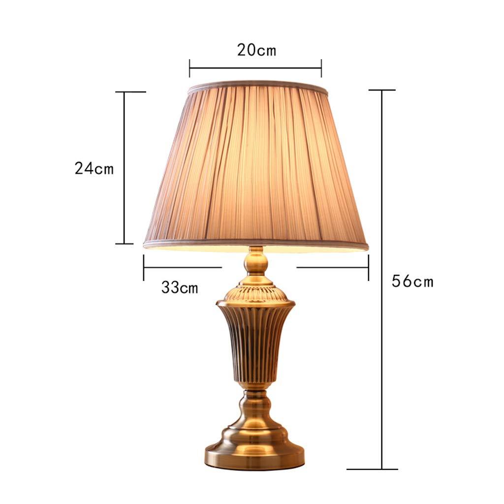 High-quality table lamp Tischlampe - amerikanische amerikanische amerikanische minimalistische Moderne Schlafzimmer Nachttischlampe Wohnzimmer Studie Mode Persönlichkeit Luxus warme romantische Tischlampe 2fc6ea