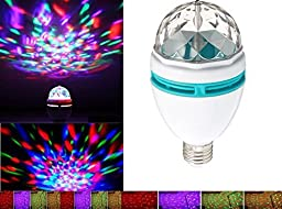 Greententljs LED Crystal stage light Rotating Strobe for club bar DJ ball Disco party Bulb Multi changing Color