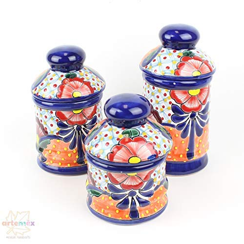 Amazon.com: Kitchen Canister Set - Mexican Talavera ...