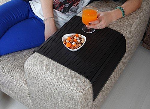 Sofa Tray Table ( Super Black V2 ), Sofa Arm Tray, Sofa Arm Table, Coffee Table, Sofa Table, Armrest Tray Organizer, Side Sofa Table, Coffee Tea Tray, Tv Tray Table