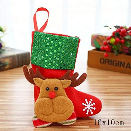 ZXXFR Ciondoli E Pendenti Natalizi,3Pz Green 2020 Doni Borsa Calza di Natale Decorazioni di Natale per I Calzini in Casa Natal Tree Decorazione B1-B3