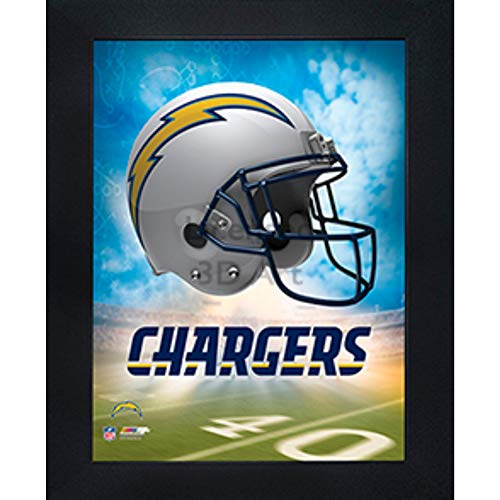 Los Angeles Chargers 3D Poster Wall Art Decor Framed Print | 14.5x18.5 | Lenticular Posters & Pictures | Memorabilia Gifts for Guys & Girls Bedroom | NFL Football Team Sports - Team Football Print Framed