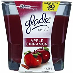 Glade Apple Cinnamon Scented Candle 3.8 oz (Pack of 6)