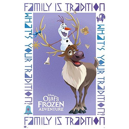 Grupo Erik editores Adventure Poster Olaf Frozen Olaf & Sven