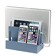Great Useful Stuff High Gloss Denim Multi-Device Charging Station and Dock