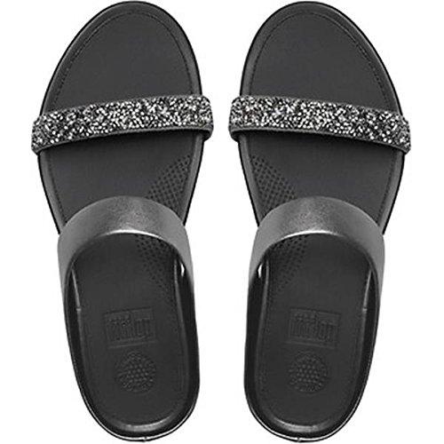 7396e4ce6 FitFlop Banda Roxy Slide Sandals Pewter UK6 Pewter  Amazon.co.uk ...