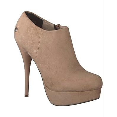 MELROSE Damen Schuhe Ankle Boots High Heels Stiefelette Gr. 40 beige  40 EU