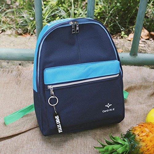 Shoulder Womens Inkach Mini Blue Leisure Nylon Backpack Rucksack Patchwork Fashion Travel School Purse Bags wgP1gI