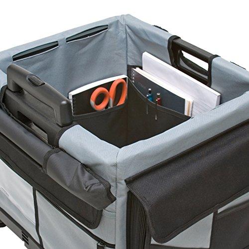 ECR4Kids MemoryStor Universal Rolling Cart and Organizer Bag Set, Black by ECR4Kids (Image #9)