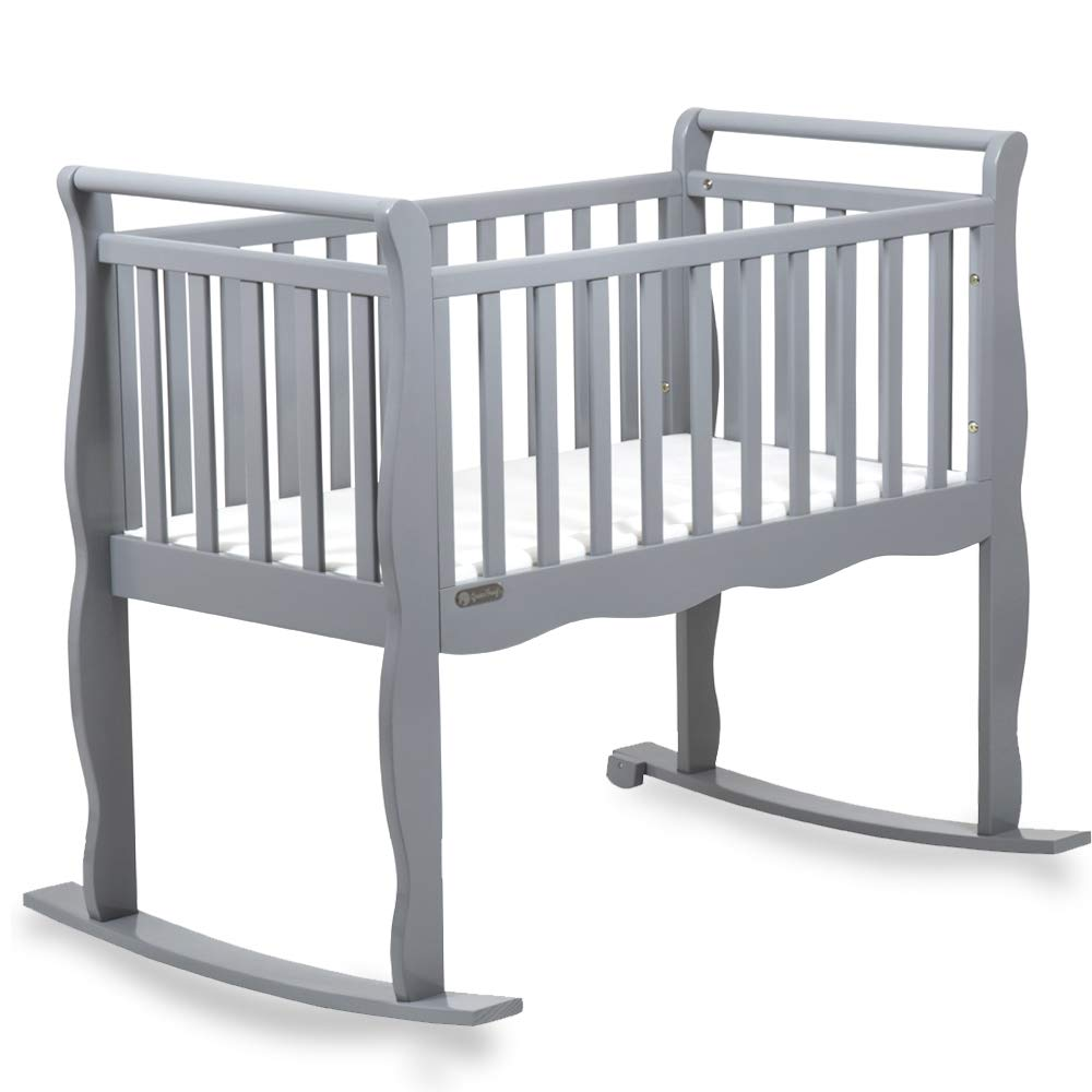 Now and Forever Baby Cradle Green Frog Grey