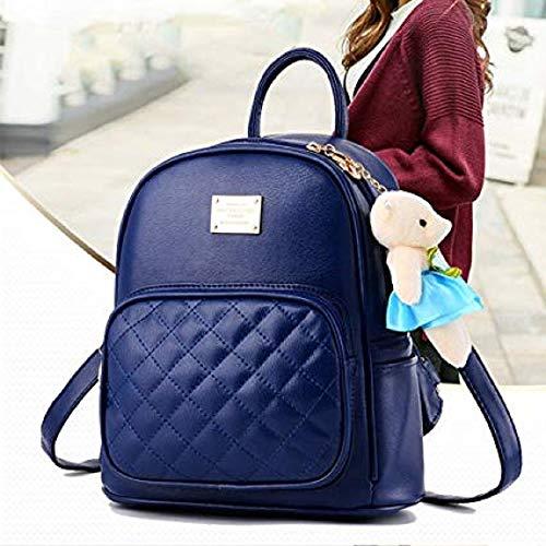 Sac Filles 01 Daypacks Petit À Pour Travel Bleu Mini De Cuir Voyage Dos Étanche Occasionnel Les Main Femmes Pu Mignon Bababala Adolescentes OfTwqR