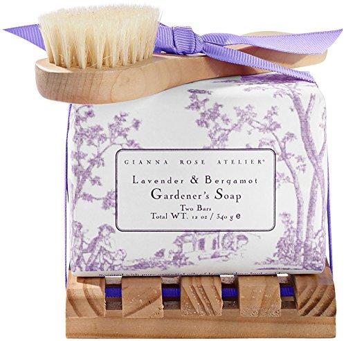- Gianna Rose Gardener's Soaps with Tray, Lavender & Bergamot, 12 oz.