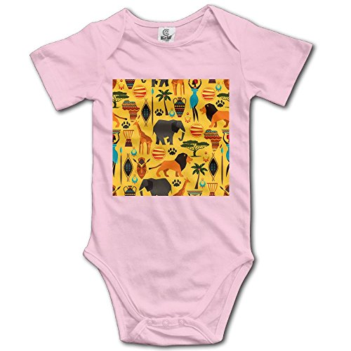 Animal Pak Stacks (Infants Boy's & Girl's Africa Zoo Animals Short Sleeve Bodysuit Outfits For 6-24 Months)