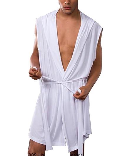 Pijamas para Hombre Ropa para Helado Sexy Gorro De Verano Y Otoño Albornoz para La Marea
