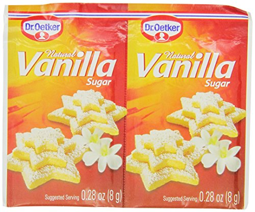 Dr. Oetker Natural Vanilla Sugar, 0.28-Ounce 6-Count Packages (Pack of 12)