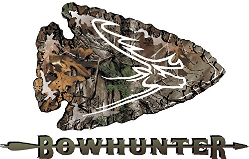 (Truck Bowhunter Camouflage Set of 2 opposing Arrowhead Deer Antler Emblem Decals for Dodge Ram Ford Chevy)