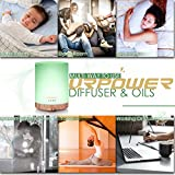 URPOWER 300ml Essential Oil Diffuser with 6 Bottles