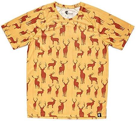HOOPOE Camiseta Running Graciosa Niño, Niña, Manga Corta, Gimnasio #OhMyDeer Talla 10: Amazon.es: Deportes y aire libre