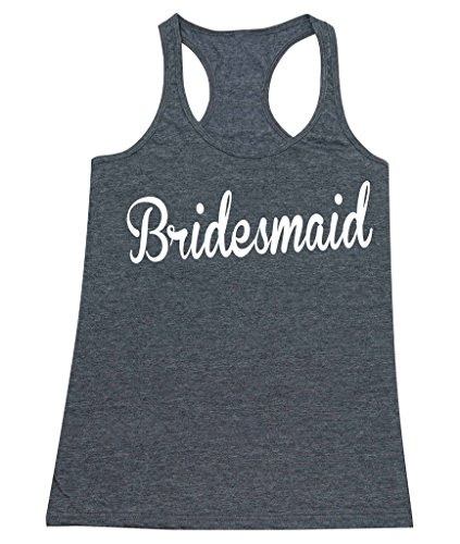 P&B The Bridesmaids Women's Tank Top, S, H. Charcoal (Bridal Party Tank Tops compare prices)